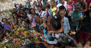 VENEZUELA-JAIL-FIRE-VICTIMS-FUNERAL