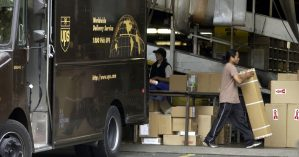 UPS Drivers And Union Leaders Protest Excessive Overtime